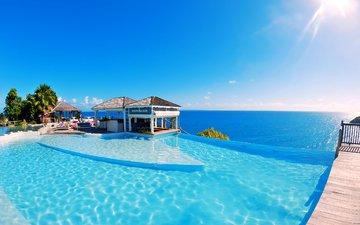 море, бассейн, курорт, тропики