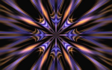 лучи, узор, симметрия