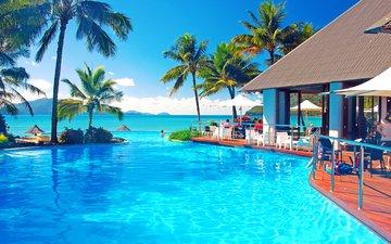 море, курорт, тропики
