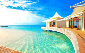 sea, resort, tropics, the maldives