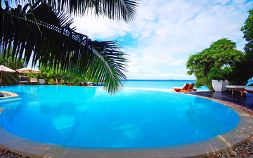 sea, pool, resort, tropics