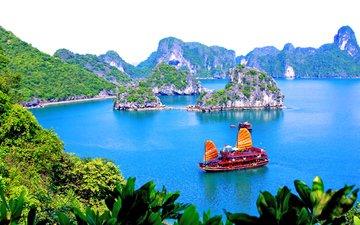 море, тропики, вьетнам, бухта халонг