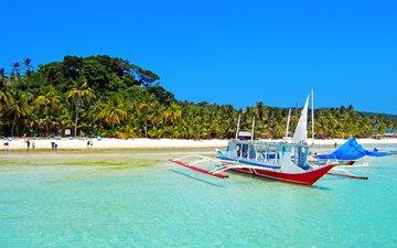 море, пляж, лодки, тропики