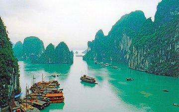 море, бухта, тропики, вьетнам
