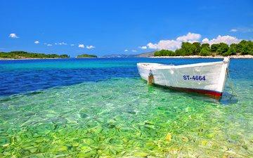 море, лодка, тропики