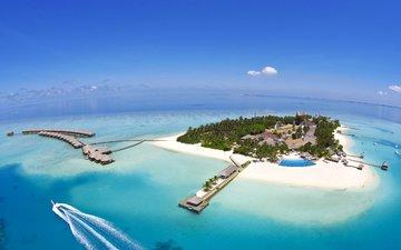 море, остров, тропики, мальдивы