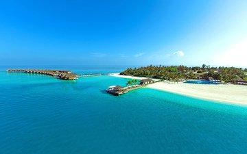 sea, beach, island, tropics, the maldives