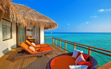 sea, bungalow, tropics, the maldives
