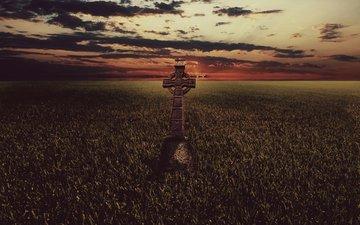 полюс, trava, krest, keltskij krest