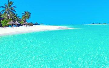 море, пляж, остров, тропики