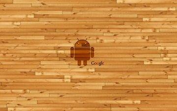 android, stena, logotip, gugl, derevyannaya