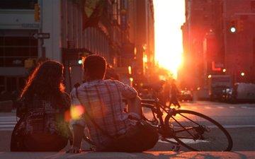 закат, nastroenie, нью - йорк