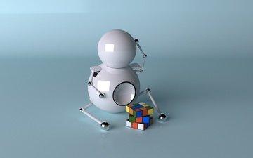 робот, kubik, рубик