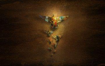 minimalizm, pticy, golubi