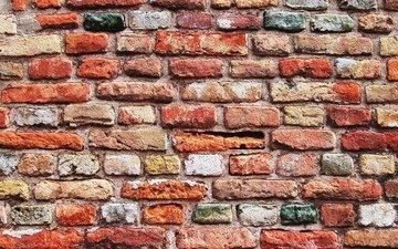 камни, текстура, цвет, стена, кирпич