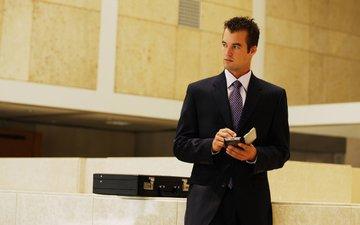 мужчина, красивый, галстук, сексуальный, пиджак, стильный