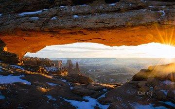 горы, скалы, солнце, природа, сша, штат юта, национальный парк; каньонлендс