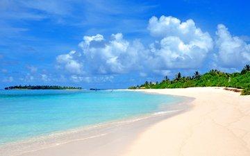 море, пляж, тропики, мальдивы