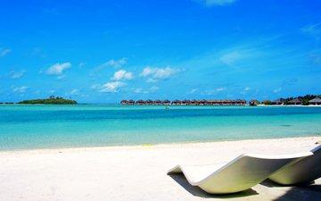море, пляж, бунгало, тропики, мальдивы