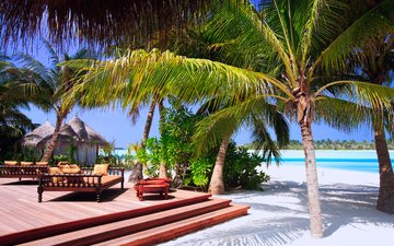 sea, beach, resort, tropics, the maldives