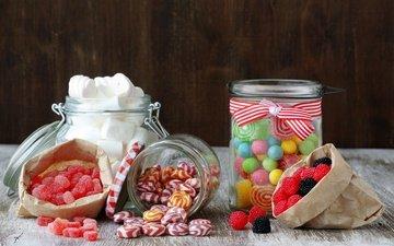 разноцветные, конфеты, сладости, зефир, леденцы, мармелад