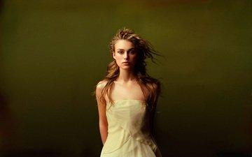 девушка, взгляд, волосы, кира найтли, британская актриса