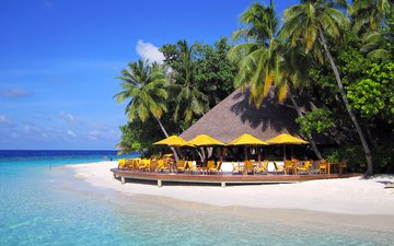 sea, beach, island, resort, tropics, the maldives