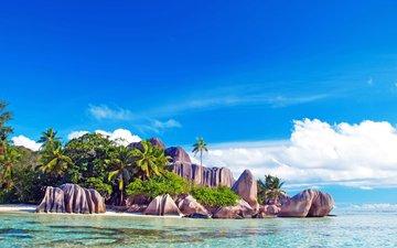 море, пляж, отдых, остров, тропики, сейшелы