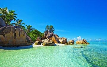 море, пляж, отдых, тропики, сейшелы
