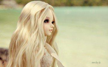 фон, блондинка, кукла, игрушки