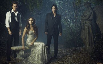 the vampire diaries, the series, elena, damon, stefan