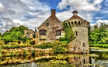 англия, замок скотни