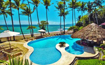 море, пляж, бассейн, отдых, курорт, тропики