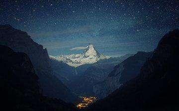 горы, звезд