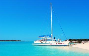 море, пляж, яхта, отдых, остров, тропики