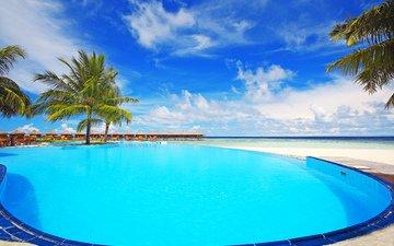 море, пляж, бассейн, отдых, бунгало, тропики