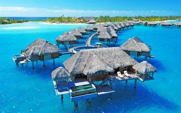 море, остров, курорт, бунгало, тропики, мальдивы