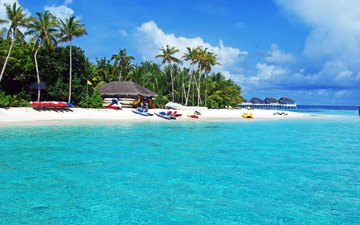 море, пляж, отдых, остров, тропики