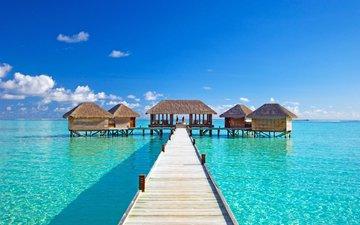 море, отдых, бунгало, тропики, мальдивы
