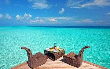 sea, stay, restaurant, tropics, the maldives