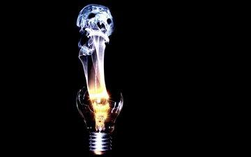 light bulb, split