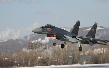 fighter, su-35s, bbc, rossi, landing.