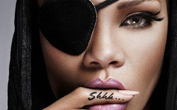 взгляд, губы, красотка, рианна