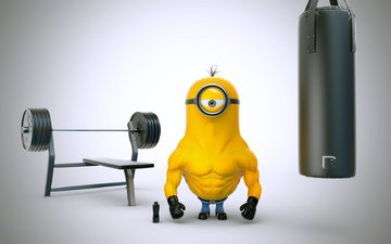 jock, bodybuilder, minion
