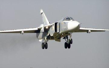 su-24, landing