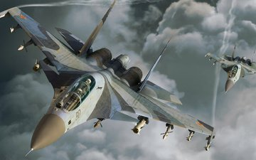 flight, aircraft, fighters
