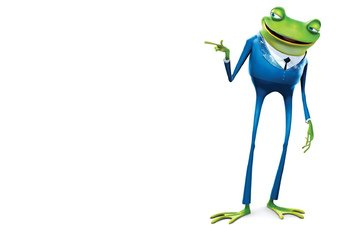 frog, white background, tie, gesture, blue suit