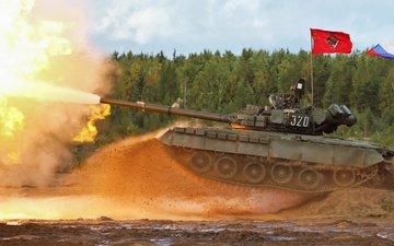 shot, tank, t-80 bv, mbt