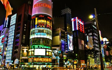 the city, japan, street, building, tokyo, stores