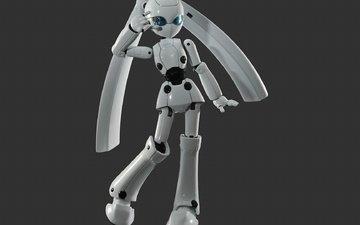 поза, робот, белый, жест